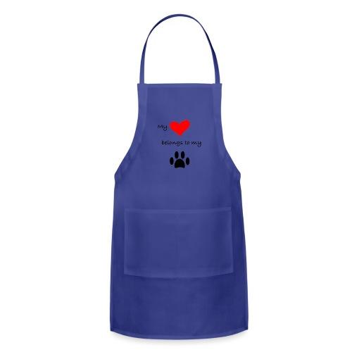 Dog Lovers shirt - My Heart Belongs to my Dog - Adjustable Apron