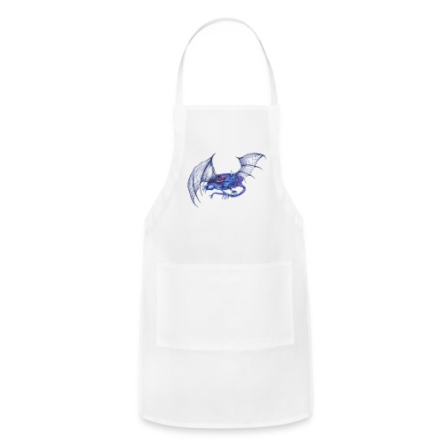Long tail blue dragon - Adjustable Apron