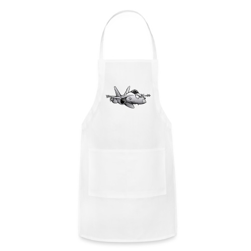 Military Fighter Attack Jet Airplane Cartoon - Adjustable Apron