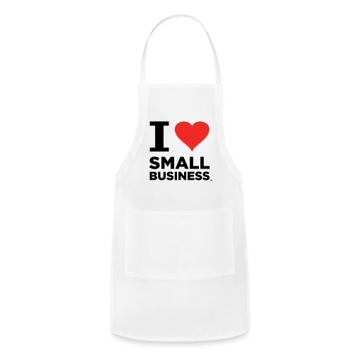I Heart Small Business (Black & Red) - Adjustable Apron
