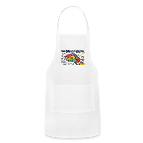 Brain of a Conservative Republican - Adjustable Apron
