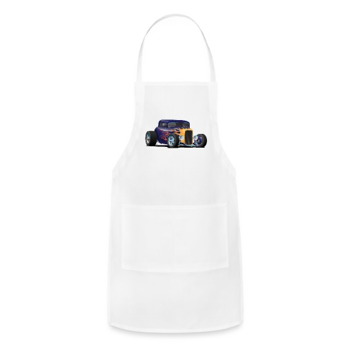 Vintage Hot Rod Car with Classic Flames - Adjustable Apron