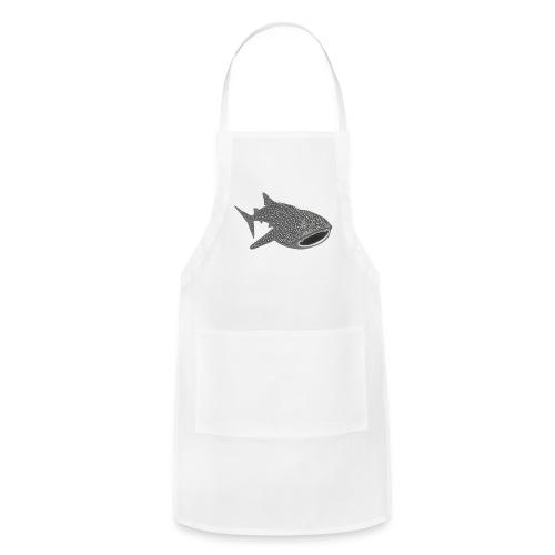 save the whale shark sharks fish dive diver diving - Adjustable Apron