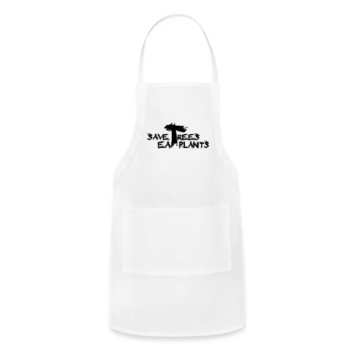 Eat plants, black - Adjustable Apron