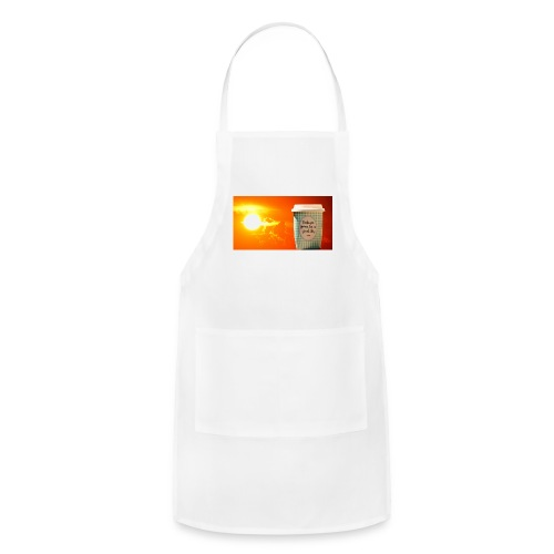 Good day coffee cup motivation message - Adjustable Apron