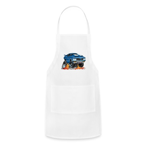 Classic American Muscle Car Hot Rod Cartoon - Adjustable Apron