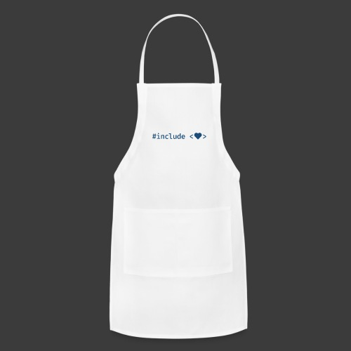 Include Heart (Light Background) - Adjustable Apron