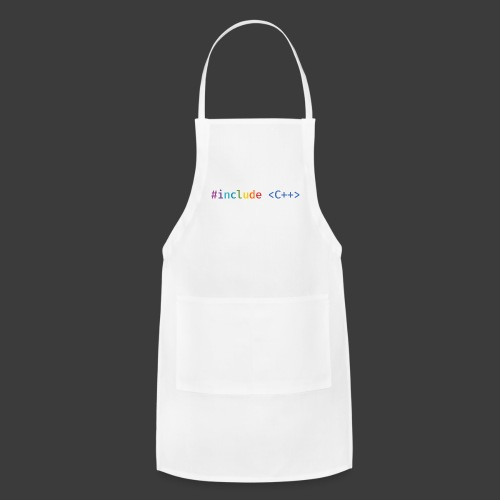 Rainbow Include C++ (Light Background) - Adjustable Apron