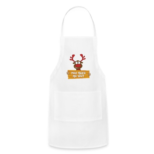 Red Christmas Horny Reindeer 5 - Adjustable Apron