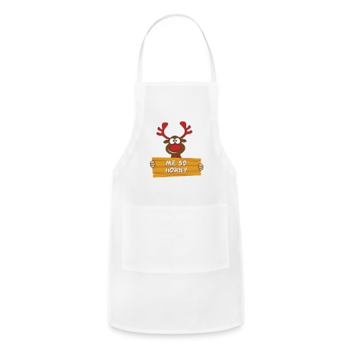 Red Christmas Horny Reindeer 3 - Adjustable Apron