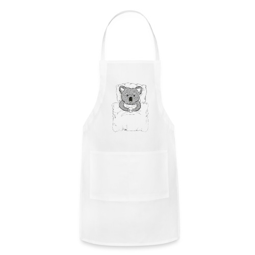 Print With Koala Lying In A Bed - Adjustable Apron