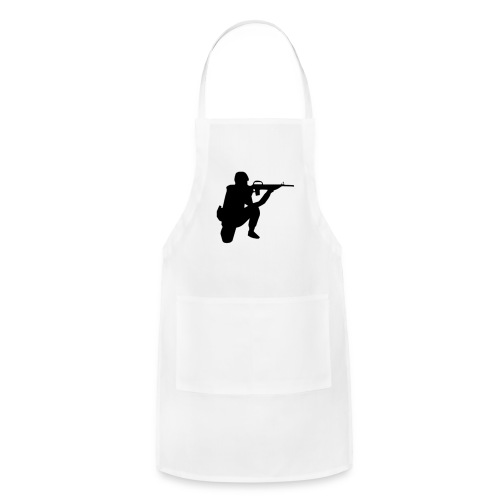Infantry at ready for action. - Adjustable Apron