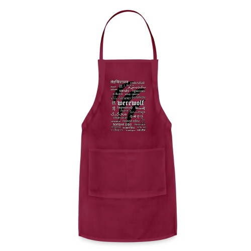 Werewolf in 33 Languages - Adjustable Apron