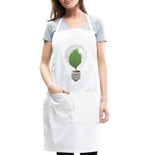 Clean Energy Green Leaf Illustration - Adjustable Apron
