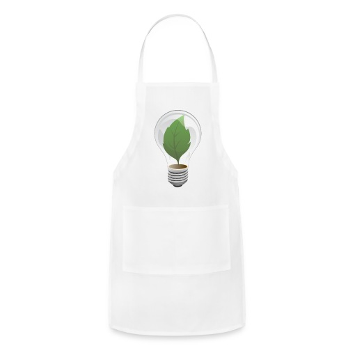 Clean Energy Green Leaf Illustration - Adjustable Apron