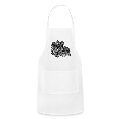 He/Him Cursive Blob - Large - Adjustable Apron