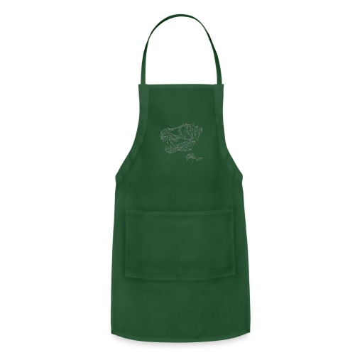 Jurassic Polygons by Beanie Draws - Adjustable Apron