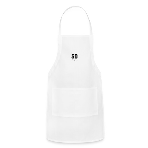 SD Designs blue, white, red/black merch - Adjustable Apron