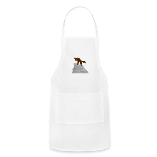 Wolf looking down on Boulder - Adjustable Apron