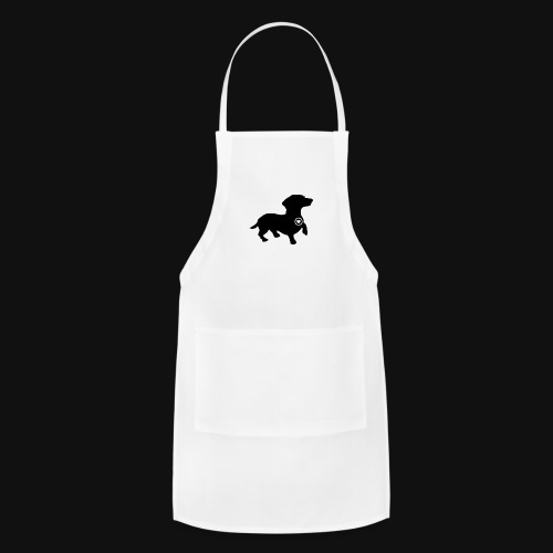 Dachshund love silhouette black - Adjustable Apron