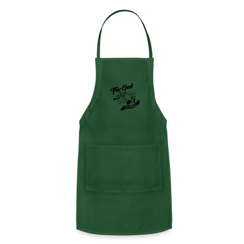 For God So Loved The World… - Alt. Design (Black) - Adjustable Apron