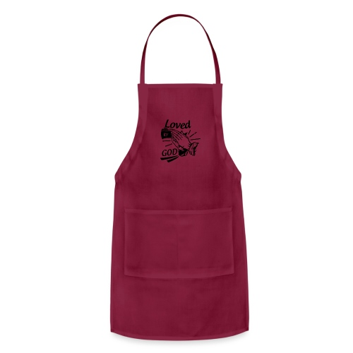 Loved By God (Black Letters) - Adjustable Apron