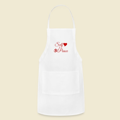 108-lSa Inspi-Quote-83.b Self-love = OM-Peace - Adjustable Apron