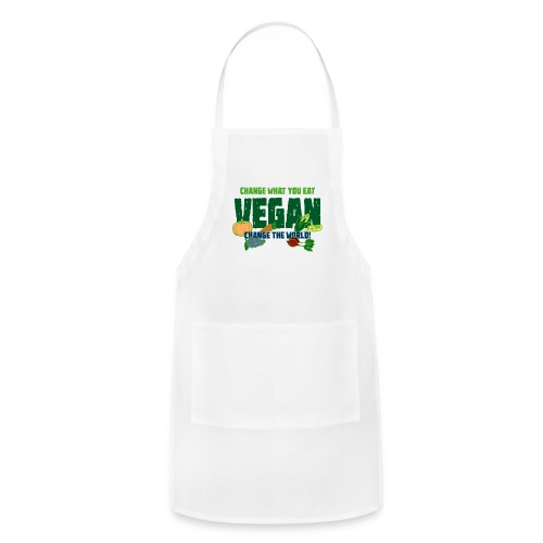 Change what you eat, change the world - Vegan - Adjustable Apron