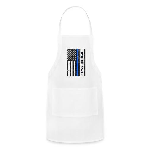 BACK THE Blue Police Officer USA - Adjustable Apron