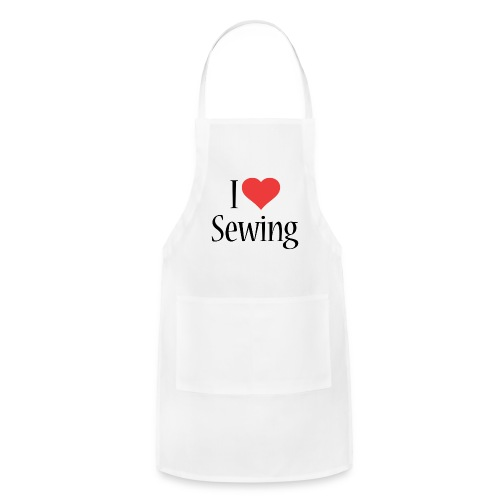 I Love Sewing - Adjustable Apron