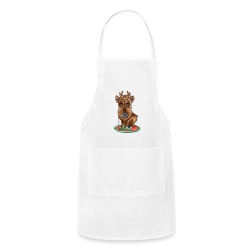 reindeer refined scribble - Adjustable Apron