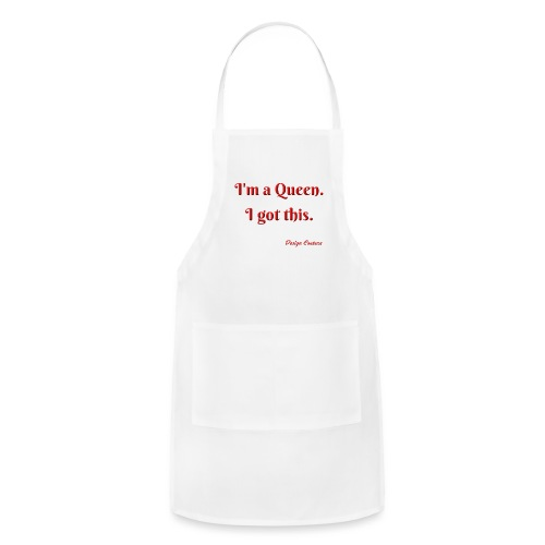 I M A QUEEN RED - Adjustable Apron