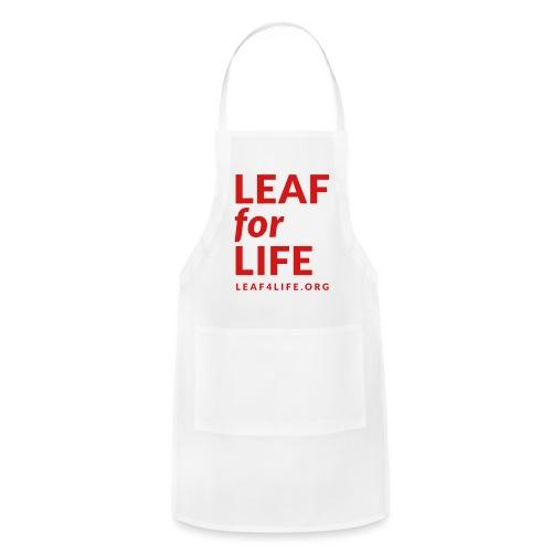 leaf4life logo red - Adjustable Apron