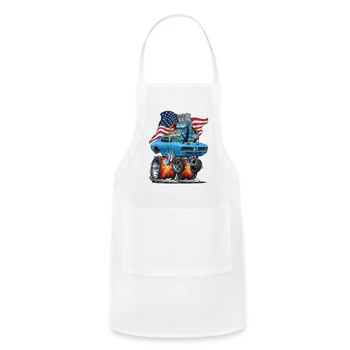 Patriotic Sixties American Muscle Car with Flag - Adjustable Apron