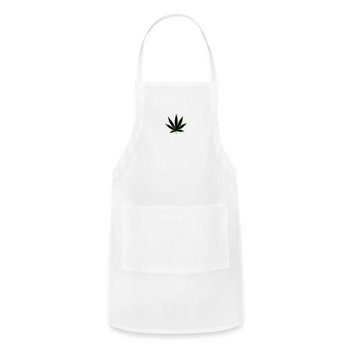 weed symbol drawing leaf - Adjustable Apron