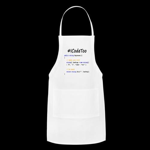#ICodeToo coding diversity statement shirt - Adjustable Apron