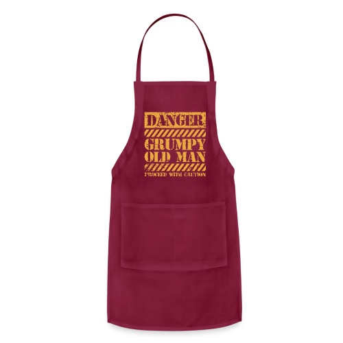 Danger Grumpy Old Man Sarcastic Saying - Adjustable Apron