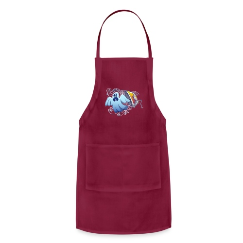Heated iron, the worst nightmare for an evil ghost - Adjustable Apron