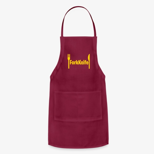 Forkknife #3 Funny Gammer & Geek Logo - Adjustable Apron