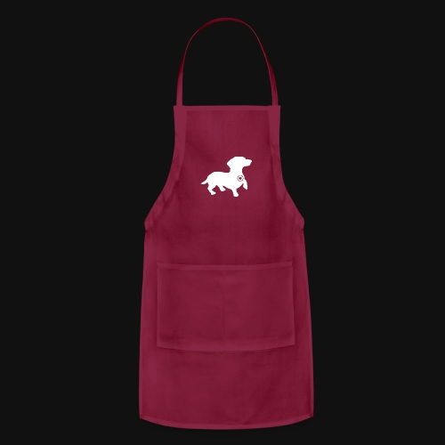 Dachshund silhouette white - Adjustable Apron