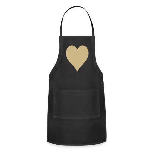 Gold Heart - Adjustable Apron