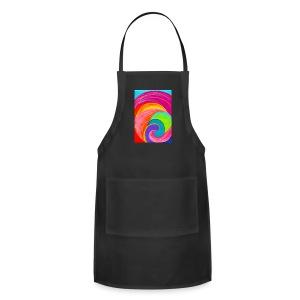 Colorful rainbow swirl - Adjustable Apron