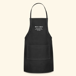 MeSs Grey Text - Adjustable Apron