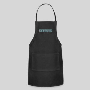 AliensWithWigs-Logo-Bleu - Adjustable Apron