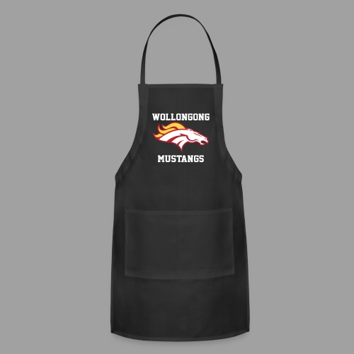 Mustangs Logo White - Adjustable Apron