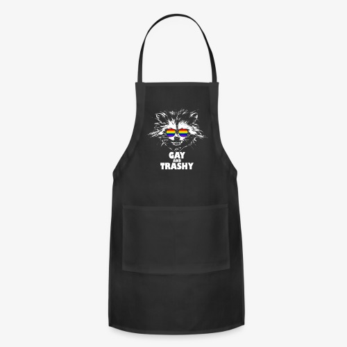 Gay and Trashy Raccoon Sunglasses LGBTQ Pride - Adjustable Apron