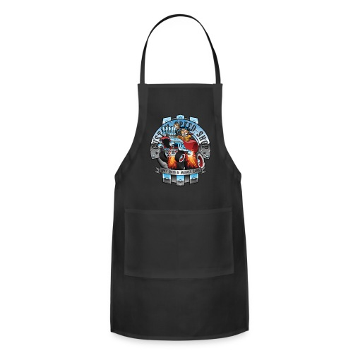 Custom Speed Shop Hot Rods and Muscle Cars Illustr - Adjustable Apron