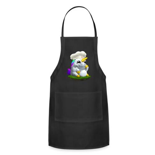 Alasdair unicorn chef hat - Adjustable Apron
