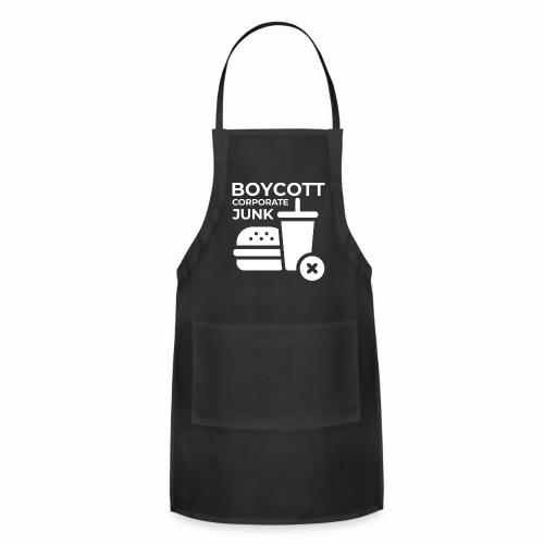 Boycott corporate junk - Adjustable Apron