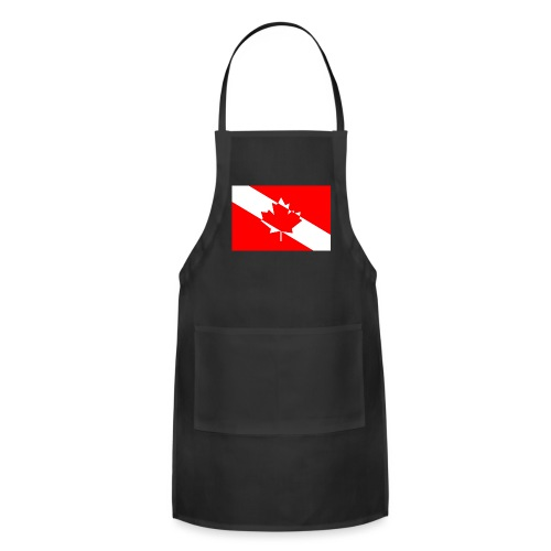 Canadian Diver Flag in Red & White - Adjustable Apron